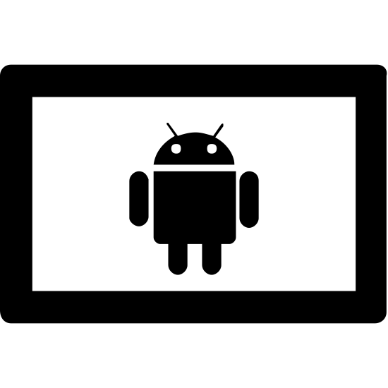 Android Tablet icon. It's an icon of a smartphone laying horizontally. The Android alien logo is on the screen.