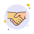 bubbles handshake icon