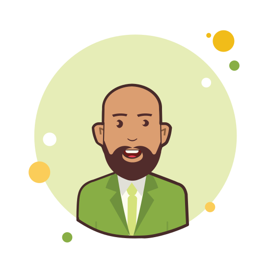 Bald Man in Green Jacket icon