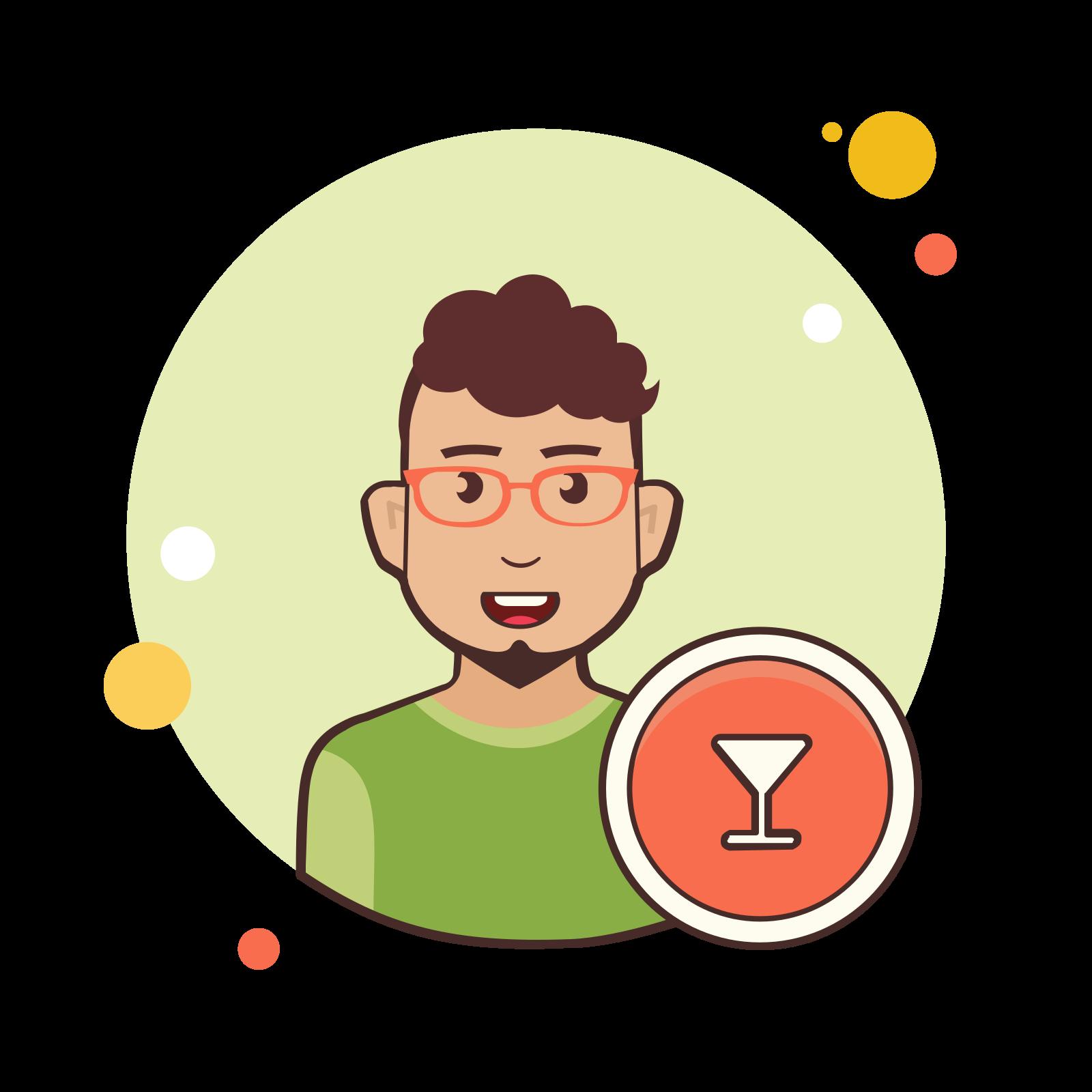 Bartender male icon
