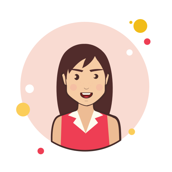Brown Hair Business Lady in Red Shirt icon