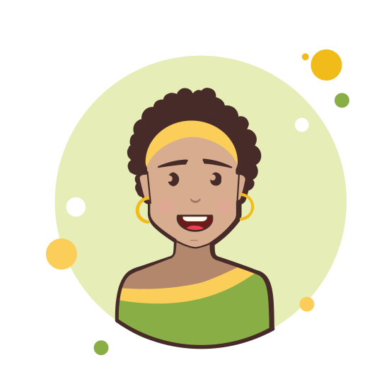 Brown Short Hair Lady With Golden Earrings icon