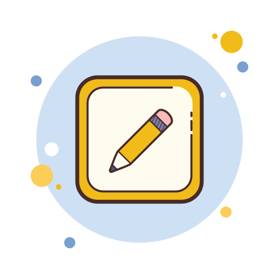 Edit icon. Edit allows for you to redo things that are already done. It takes the form of a pencil with an eraser to help you change past mistakes.