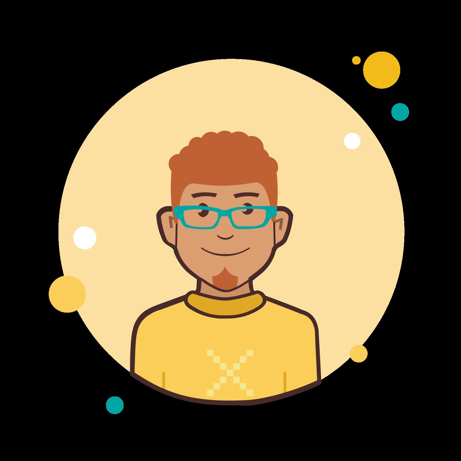Ginger Man in Yellow Shirt icon