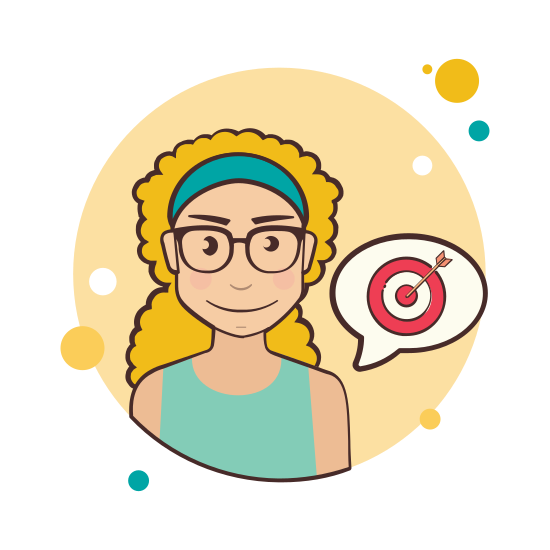 Girl and Target icon