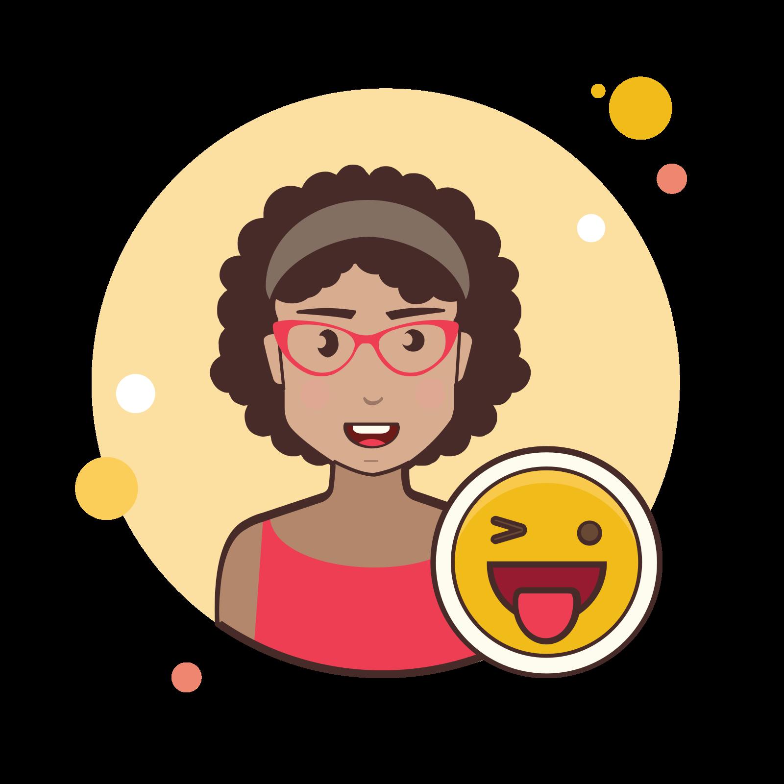 Happy woman icon