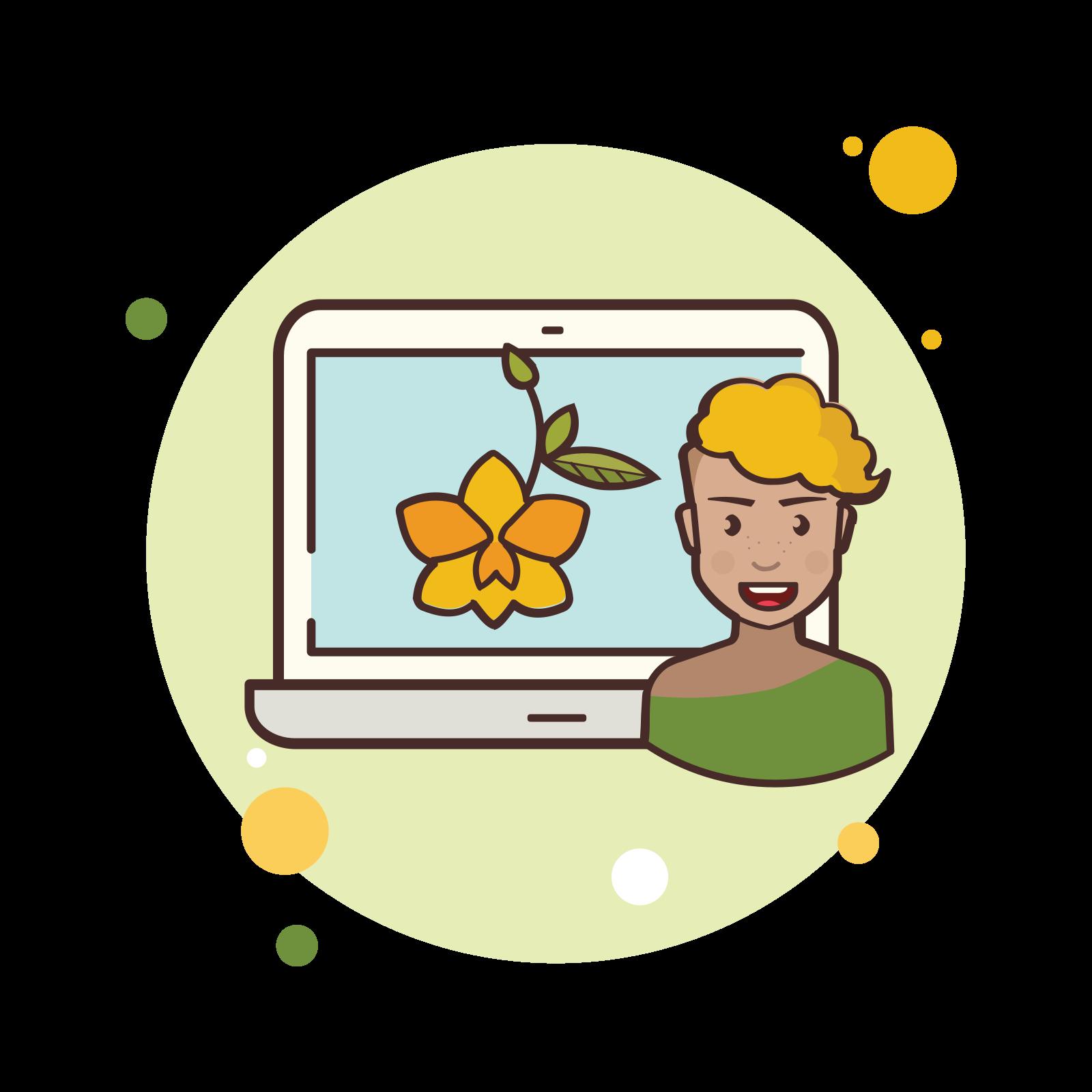 Laptop Flower icon