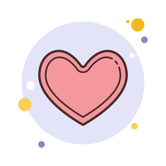 Heart icon. The icon that is used for like is a heart. A heart that shows that you feel positive about a comment made, or a story that you are reading, or pretty much anything that is uplifting.