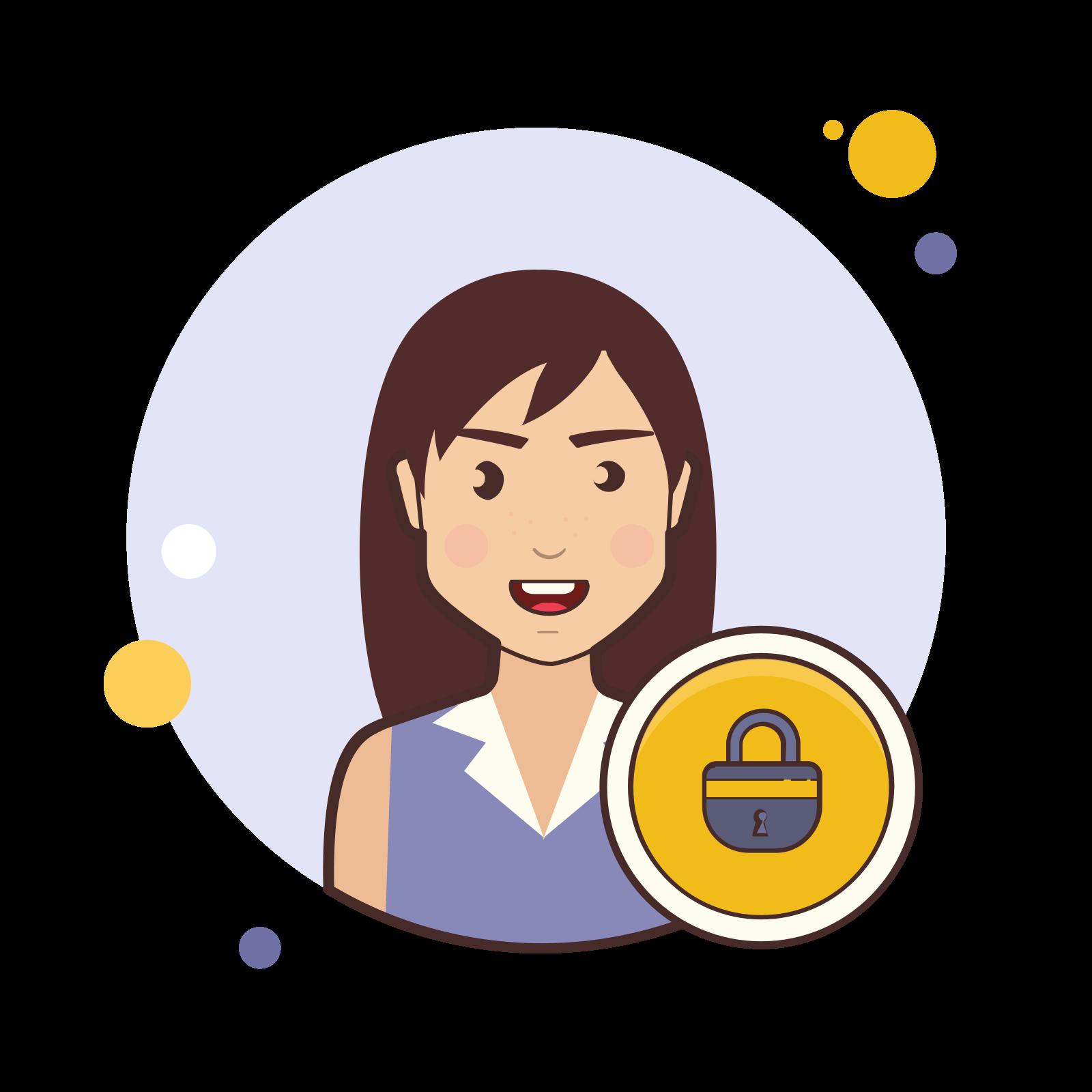 Lock Female User icon