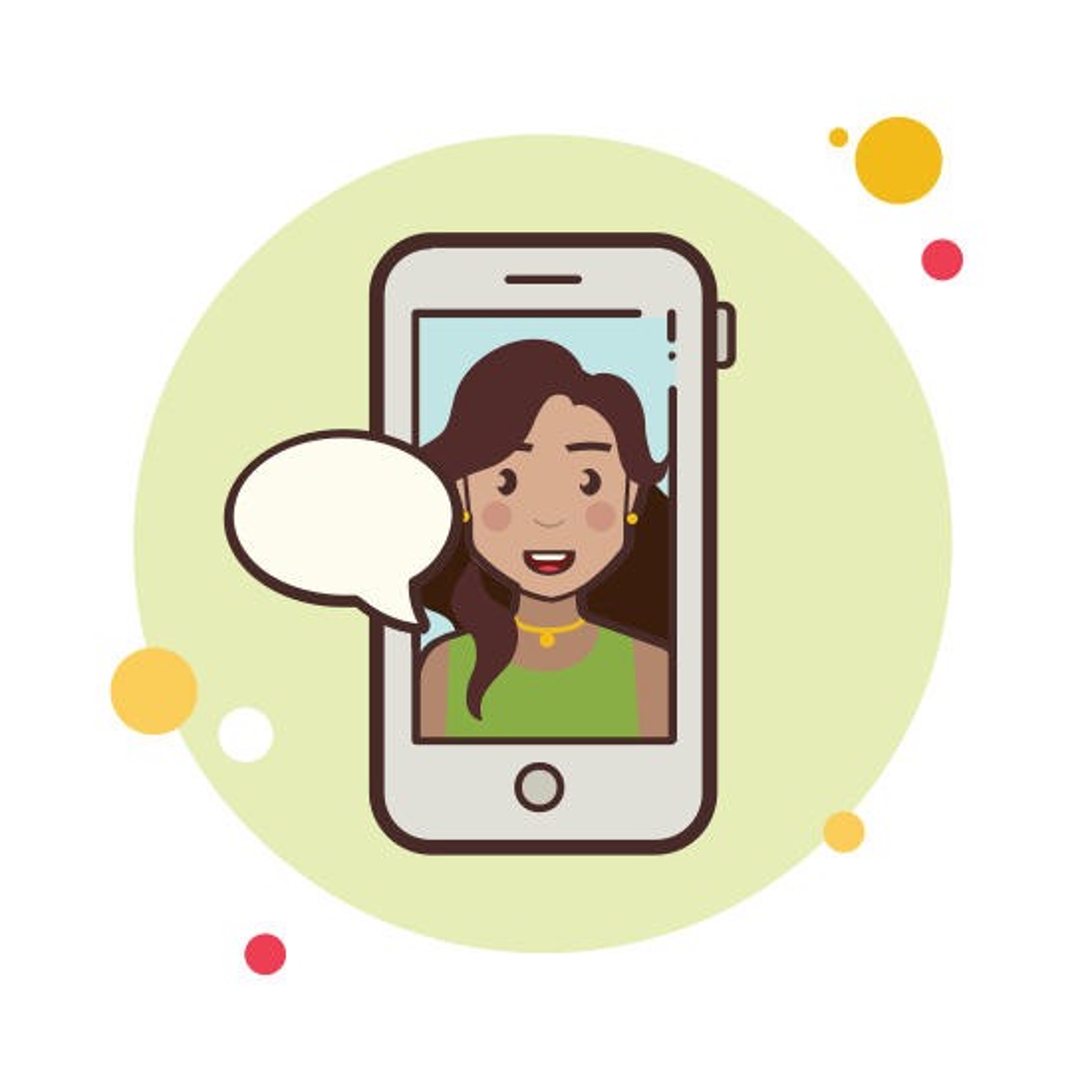 Long Hair Girl Messaging icon