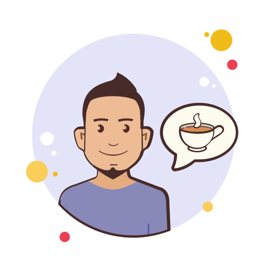 Man Coffee Cup icon