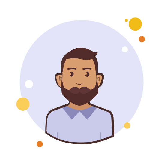 Man With Beard in Violet Shirt icon