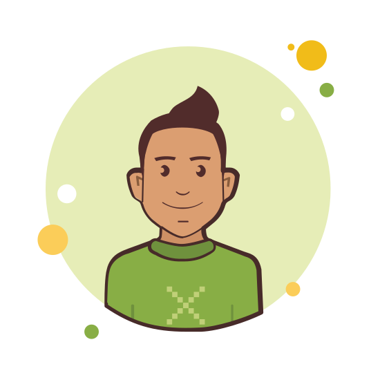Man With Brown Hair in Green Sweater icon