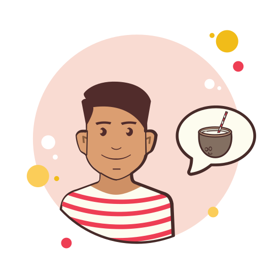 Man With Coconut Cocktail icon