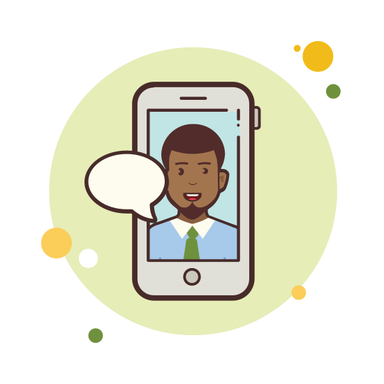 Man With Green Tie Messaging icon