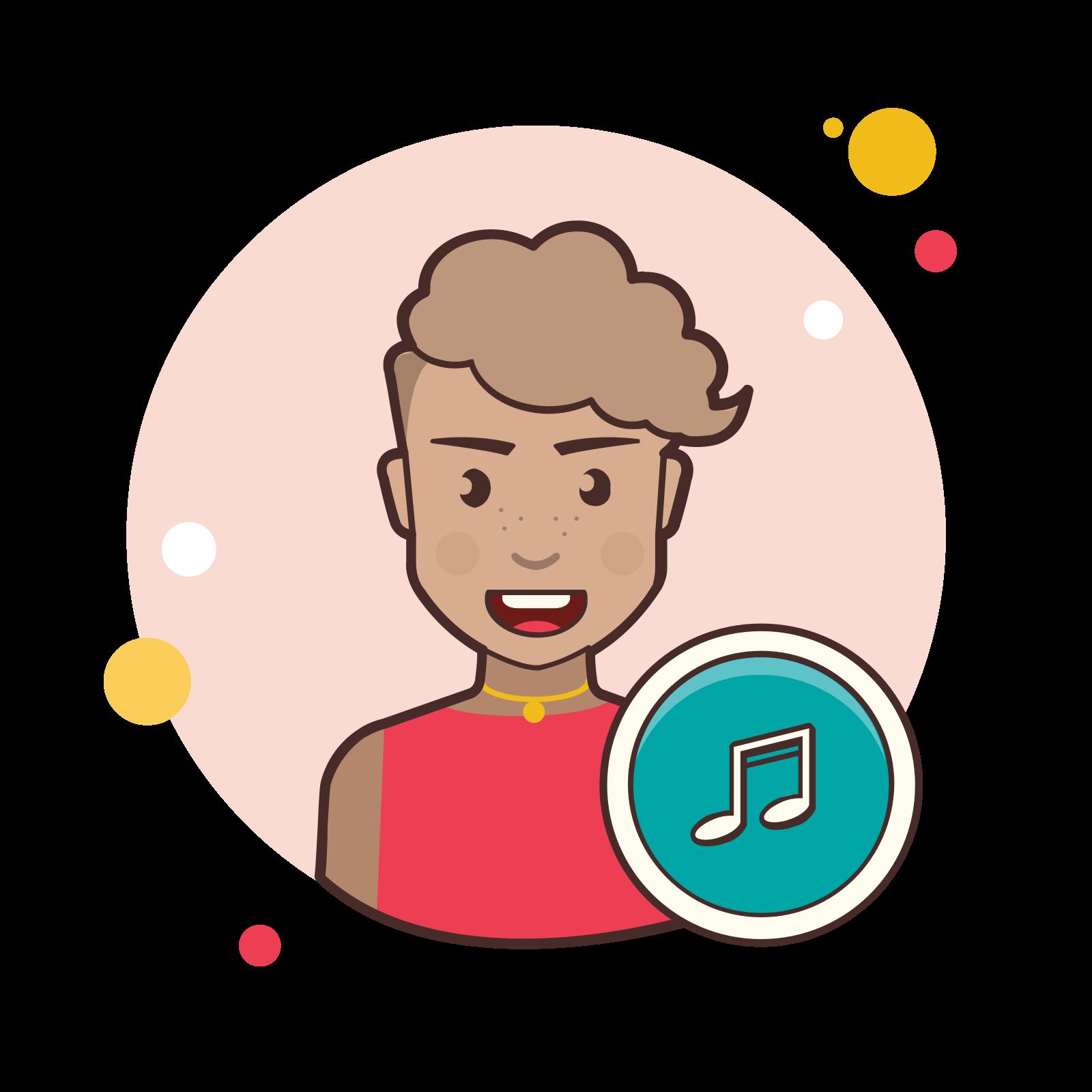 Musician female icon