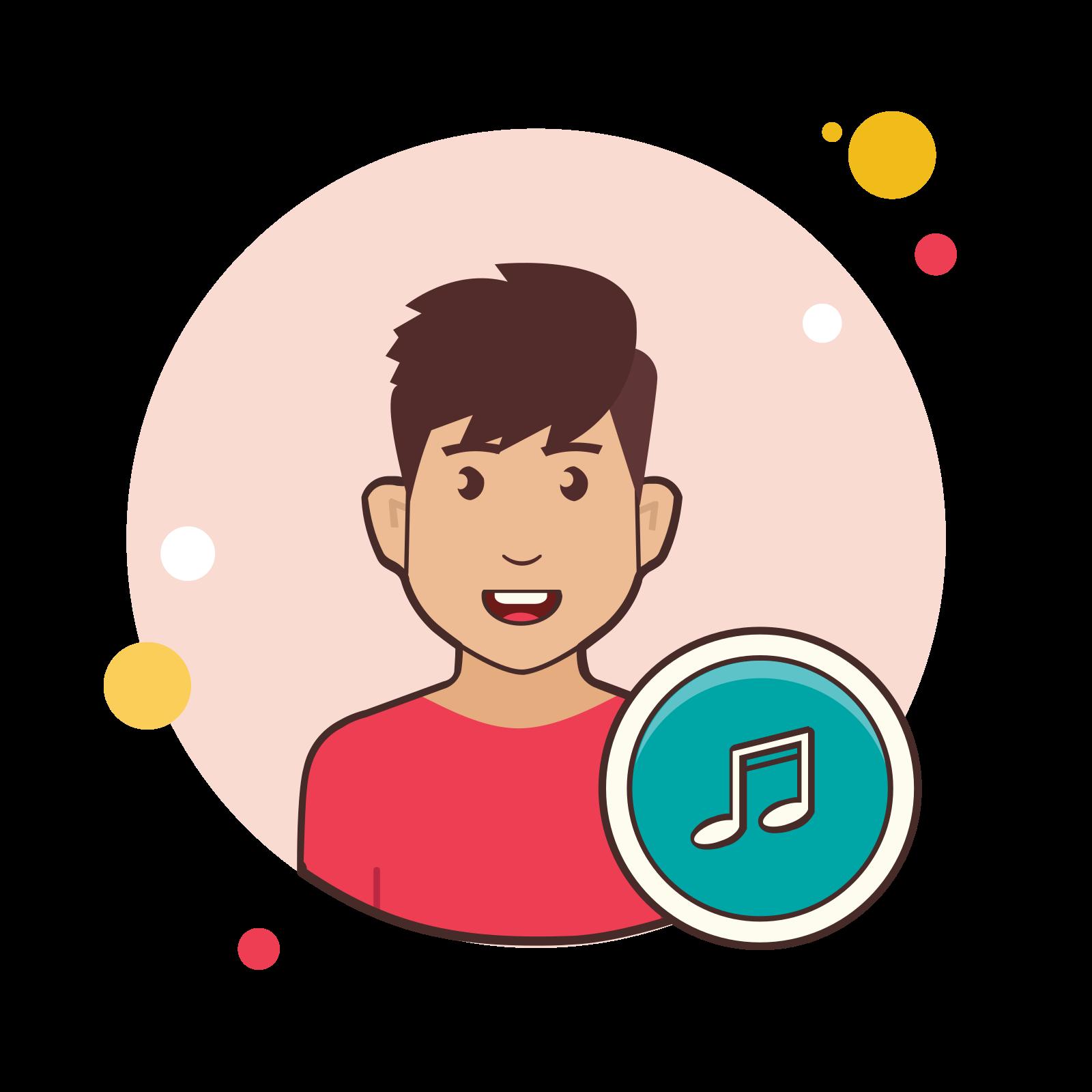 Musician male icon