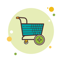 bubbles add-shopping-cart icon