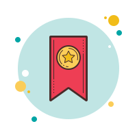 bookmark ribbon icon