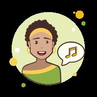 short hair-lady-music icon