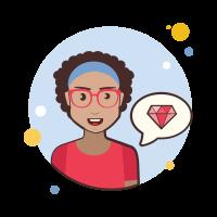 teacher lady-gem icon