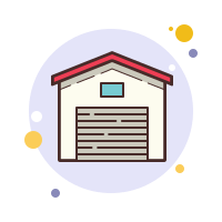 garage closed icon