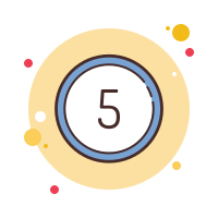 Circled 5 icon