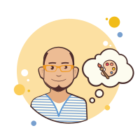 Bald Man With Art Palette icon