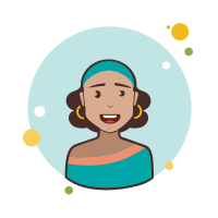 Brown Curly Hair Lady With Earrings icon