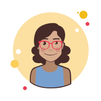 Brown Curly Hair Lady With Glasses icon
