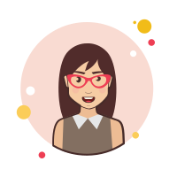 Brown Long Hair Lady With Red Glasses icon