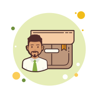 Business Man Product Box icon
