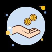 receive cash icon
