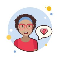 teacher lady-gem icon