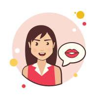 long brown-hair-girl-kiss icon