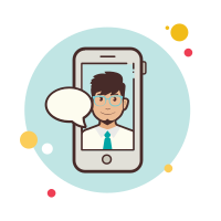 man with-tie-messaging icon