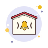secured by-alarm-system icon