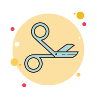 surgical scissors icon