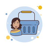 Indian Girl Shopping Basket icon