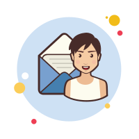 Lady With Mail icon
