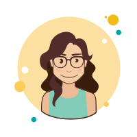 Long Brown Curly Hair Lady With Glasses icon