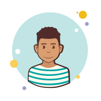 Man in Striped Shirt icon