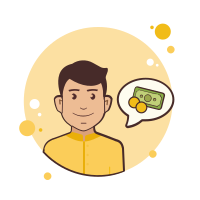 Man in Yellow Shirt Money icon