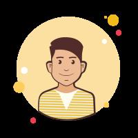 Mann in gelb gestreiften Pullover icon