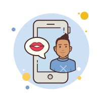 Man Phone Kiss icon
