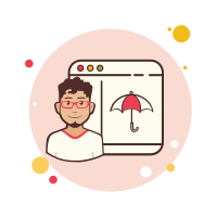 Man Window Umbrella icon