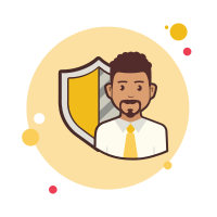 Man With a Security Shield icon