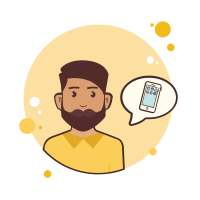 Man With Beard Smartphone icon