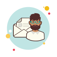 Man With Envelope icon