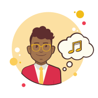 Man With Musical Note icon
